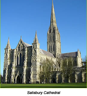 Salisbury Cathedral - within easy access of Barn Cottages at Lacock, Holiday Cottages near Bath